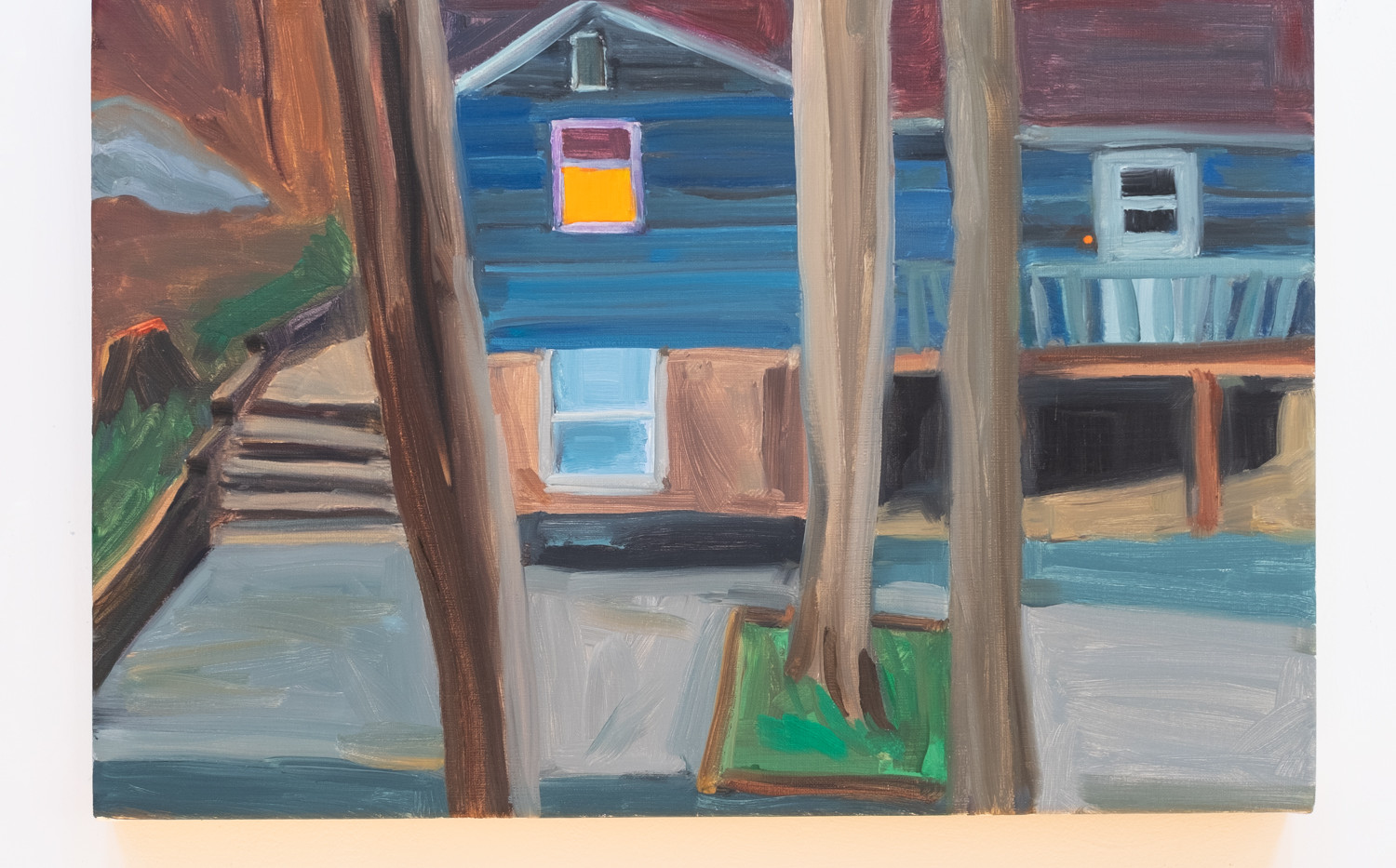 Maureen O'Leary Neighbor's Doorbell oil on linen 18 x 12 inches 2020