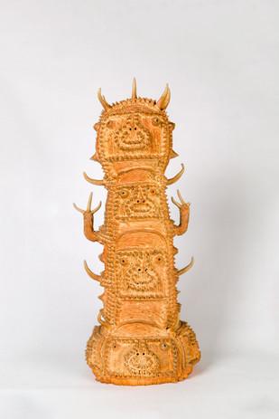 Shinichi Sawada Untitled (125), 2006-2010 Wood fired ceramic 21 1/4 x 9 1/2 x 9 1/2 in
