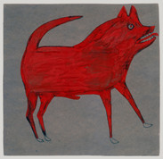 Bill Traylor, Red Dog, 1939-1942 © Bill Traylor artwork is used by permission of Bill Traylor Family, Inc., and The Artistry of Bill Traylor, LLC