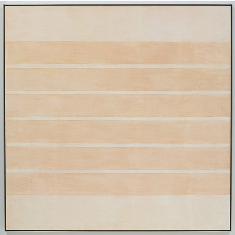 """Agnes Martin, Untitled #10, 2002, acrylic and graphite on canvas, 60"""" x 60"""" (152.4 cm x 152.4 cm) © 2019 Estate of Agnes Martin / Artists Rights Society (ARS), New York"""