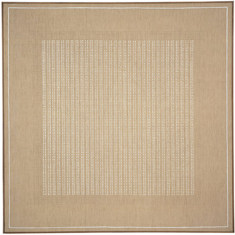 """Agnes Martin, The Islands, 1961, oil and graphite on canvas, 72"""" x 72"""" (182.9 cm x 182.9 cm) © 2019 Estate of Agnes Martin / Artists Rights Society (ARS), New York"""