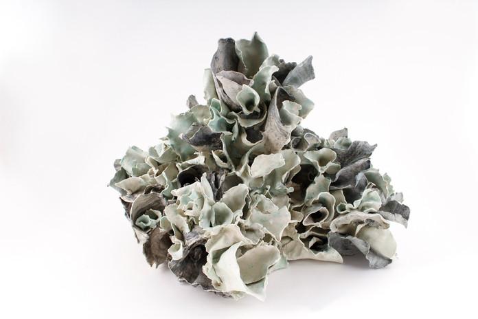 """Renqian Yang, Euphoria, 2021. Colored stoneware paper clay with glaze, 14"""" x 18.5"""" x 13.5"""" ©Renqian Yang"""