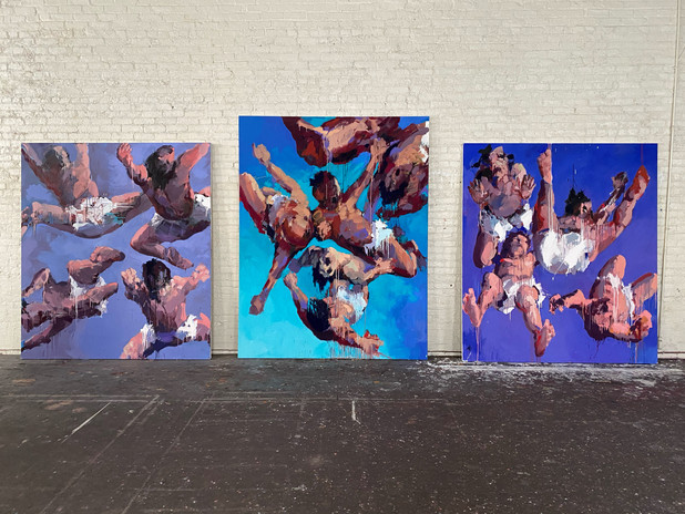 """""""The Sons of God"""" works - installation shot in studio"""