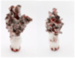 Renqian Yang, Bulge, 2019. Porcelain, fire to cone 6, electric kiln, 14.5 x 8 x 5.5 inches ©Renqian Yang, courtesy Fou Gallery.