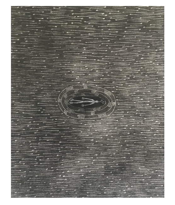 Terence Koh Untitled, 2020 Charcoal, graphite, oil pastel, artist finger oils on drawing paper 14 x 11 inches
