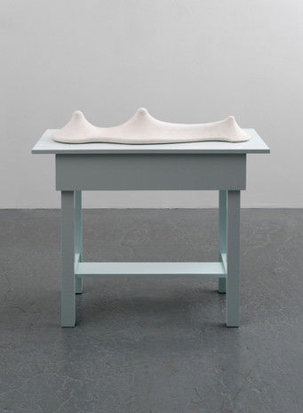 Richard Rezac Untitled (19-05), 2019 Plaster, painted wood 38 3/4 x 36 3/4 x 16 1/4 inches