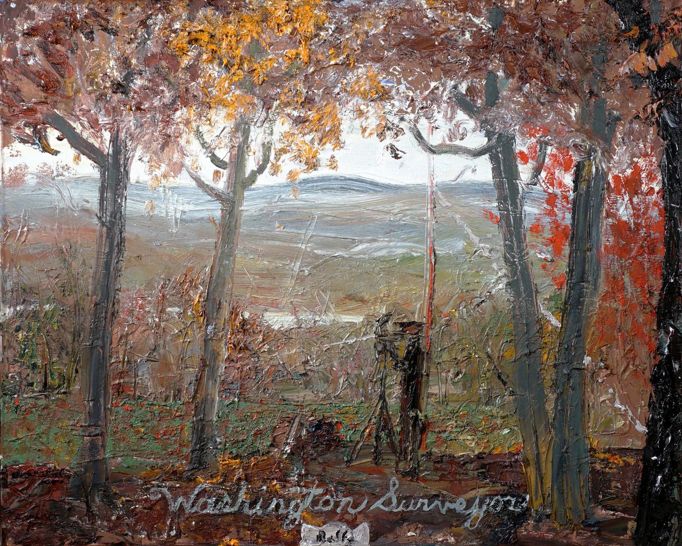 JOHN BRADFORD Washington Surveyor, 2020 acrylic, oil on canvas 24 x 30 in (61 x 76.2 cm)