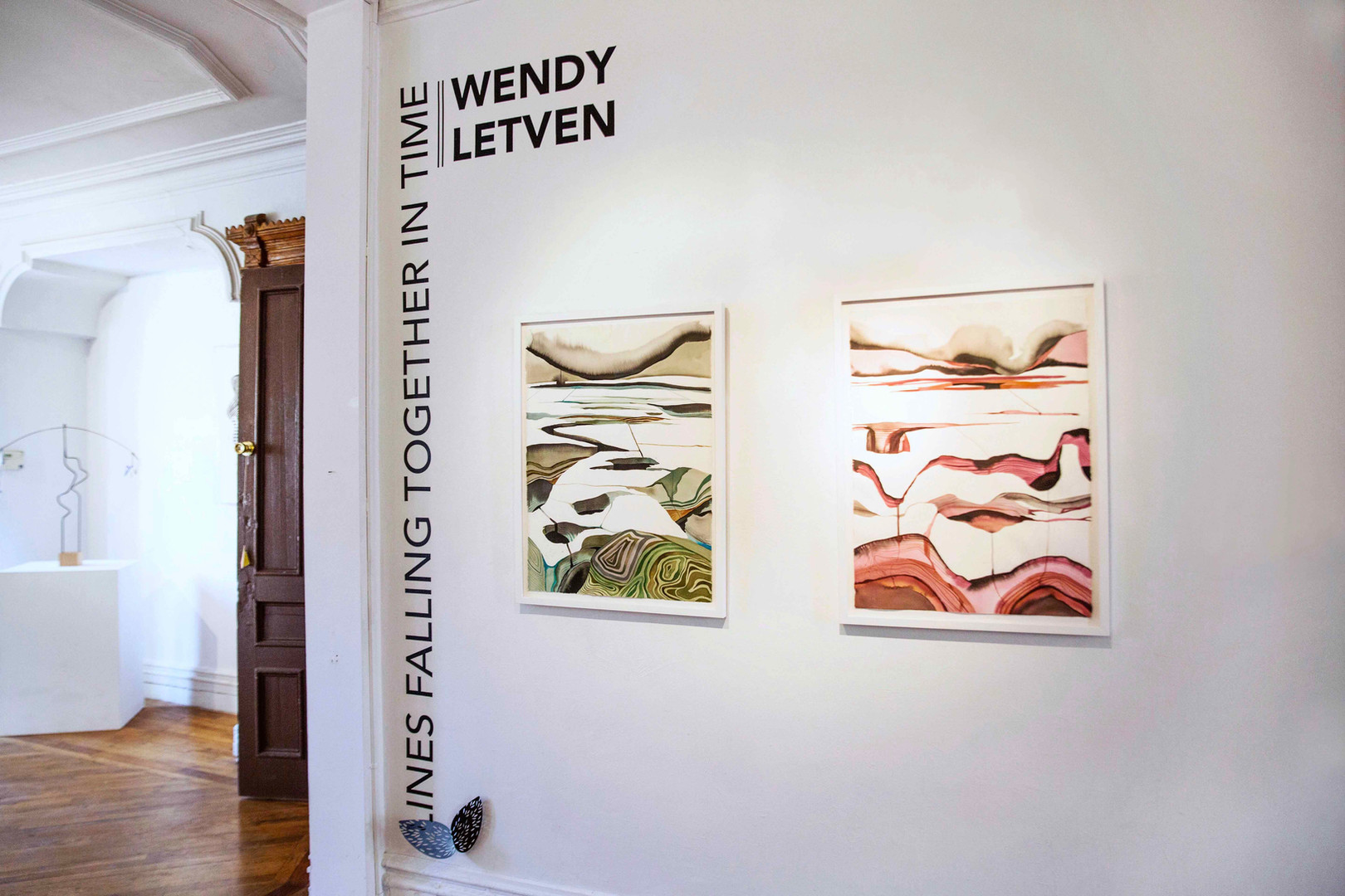 Wendy Letven: Lines Falling Together in Time installation view. Photograph by Lynn Hai. ©Wendy Letven, courtesy Fou Gallery.