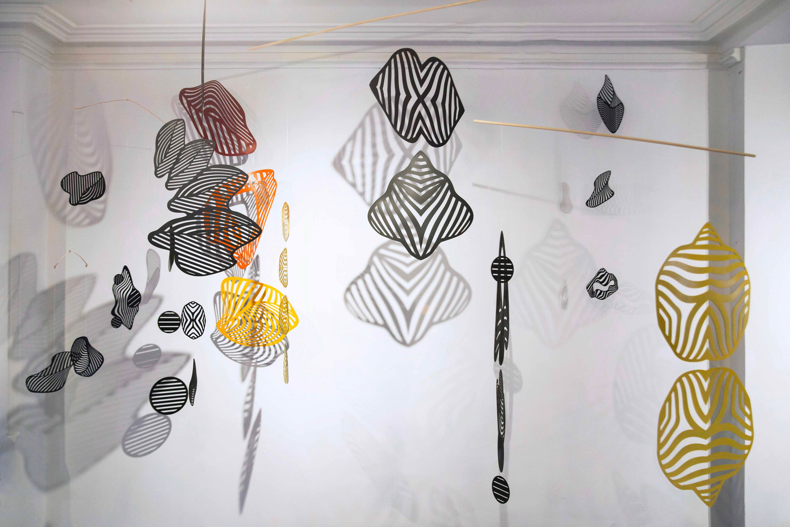 Wendy Letven, Gyre, 2020. Site-specific installation, Cut paper, dimensions variable ©Wendy Letven, courtesy Fou Gallery