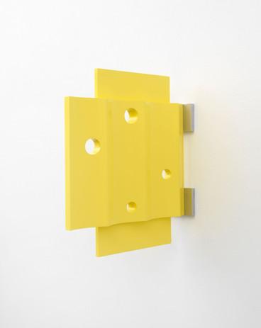Richard Rezac Untitled (20-10), 2020 Painted cherry wood, aluminum 21 1/4 x 8 1/2 x 19 1/4 inches