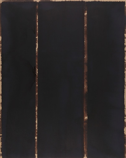 Yun Hyong-keun Burnt Umber & Ultramarine, 1993 Oil on cotton
