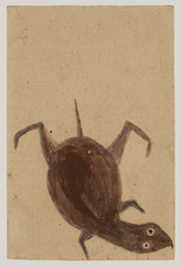 Bill Traylor, Turtle Swimming Down, c. 1939-1940 © Bill Traylor artwork is used by permission of Bill Traylor Family, Inc., and The Artistry of Bill Traylor, LLC