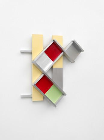 Richard Rezac Untitled (20-11), 2020 Painted cherry wood, aluminum 21 1/4 x 19 1/4 x 8 1/2 inches