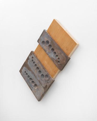 Richard Rezac Zeno, 2021 Cast bronze, pine wood 39 x 35 1/2 x 2 3/4 inches