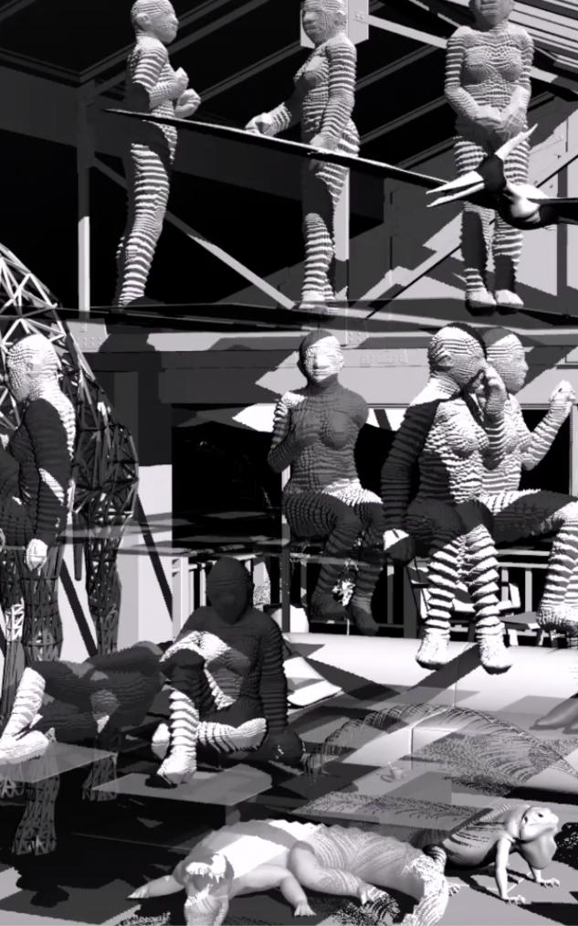 "MiaoXiaochun Gyro Dance, 2017 3D computer animation 10'30""  Image courtesy of Eli Klein Gallery"