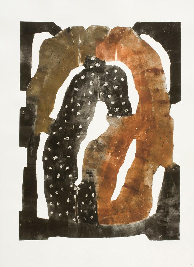 Cyclops, 2010 36 x 24 inches, Monoprint; hand tooled aluminum intaglio
