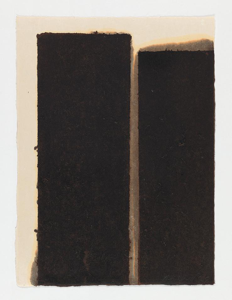 Yun Hyong-keun Burnt Umber & Ultramarine, 1995 Oil on Hanji