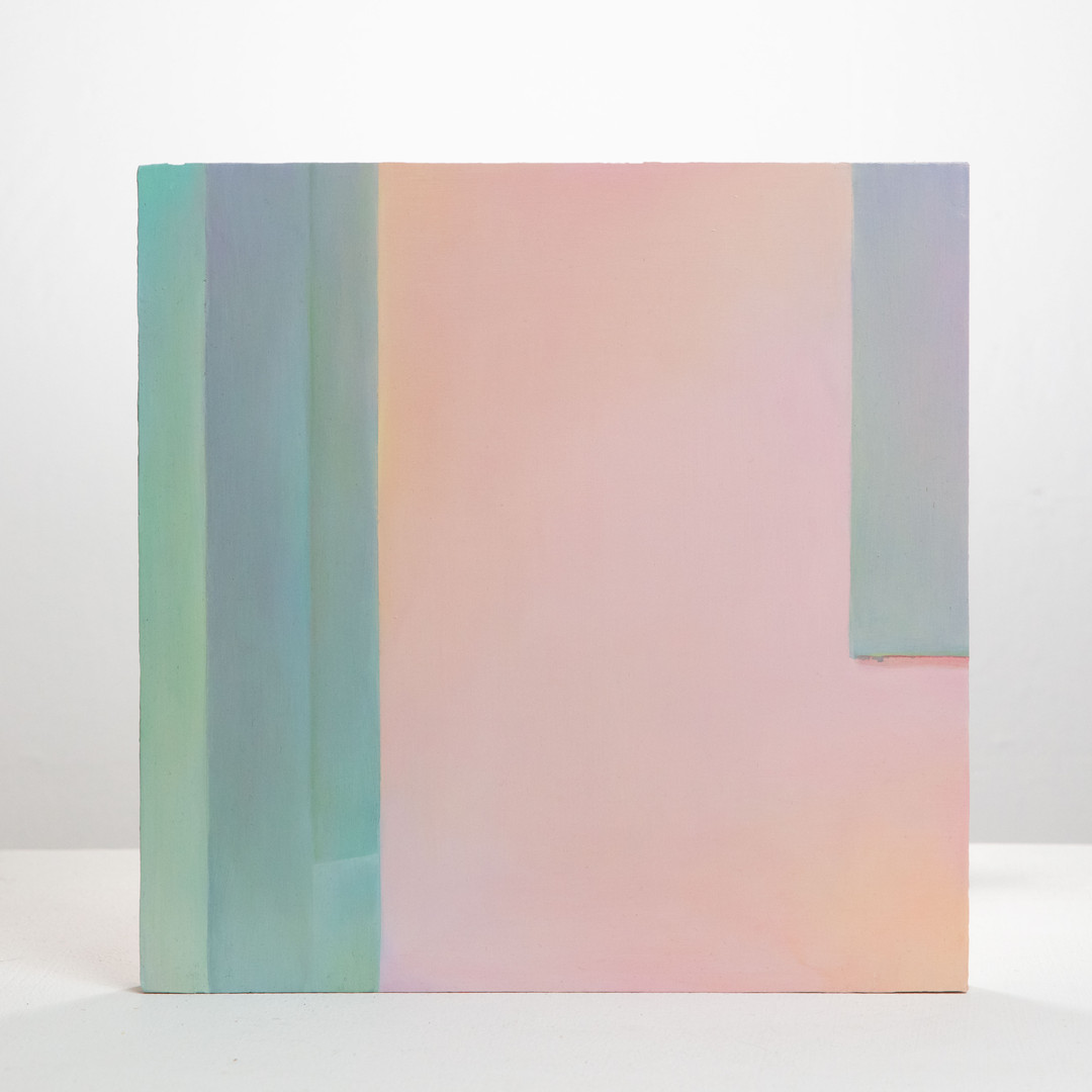 Shuling Guo, <5—6 pm>-19, 2020. Oil on board, 12 x 12 inches. Photo by Yun Kai ©Shuling Guo, courtesy of Fou Gallery.