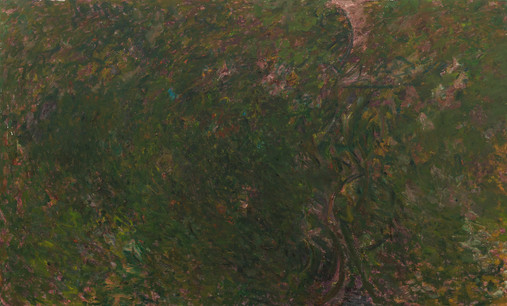 Pat Passlof Keeping Still Mountain, 1971-72 Oil on linen 80 x 132 inches Image credit: Milton Resnick and Pat Passlof Foundation.