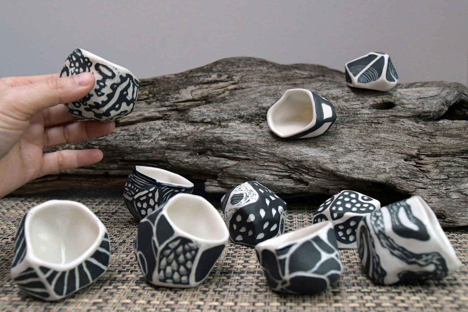 "Ruth Borgenicht ""Collaboration with Wendy Letven: Tea Cups"" 2020 - ongoing, porcelain, 1"" - 2"" high."