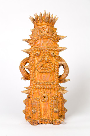 Shinichi Sawada Untitled (127), c. 2014 Wood fired ceramic 14 5/8 x 7 1/8 x 6 1/4 in