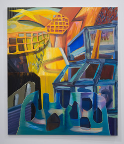 Out of and Into- 84 x 72 Inches - Oil on Linen - 2016 - Rachel MacFarlane