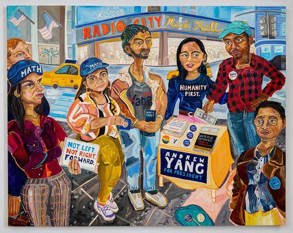 Susan Chen, Yang Gang, 2019, oil on canvas, 76 x 96 inches photo: Adam Reich