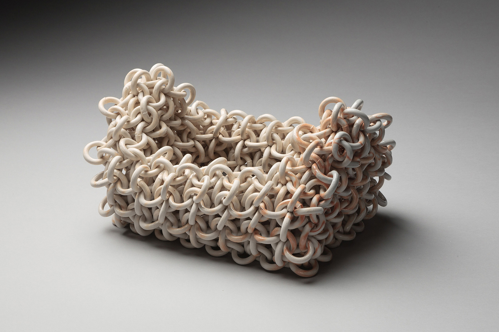 "Ruth Borgenicht ""Households, Gable"" 2014, salt-fired ceramic, 9 x 14 x 10 in."