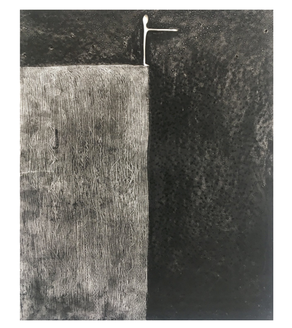 Terence Koh Untitled, 2020 Charcoal, graphite, oil pastel, artist finger oils on drawing paper 17 x 14 inches