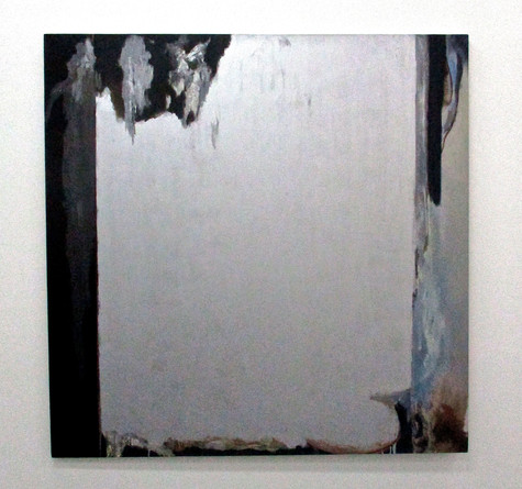 ALLEN HANSEN Untitled (961), 2019 Oil and Aluminum Oxide on canvas 60 x 60 in. Courtesy Lichtundfire