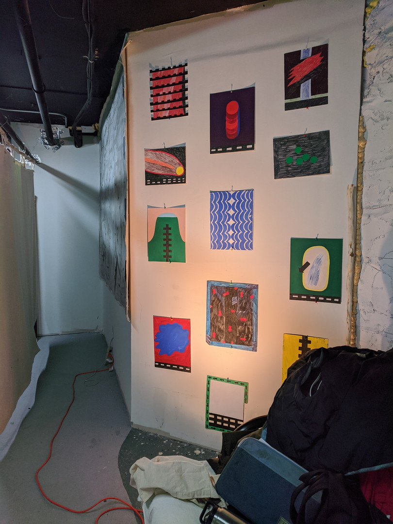works on paper, studio view, New York
