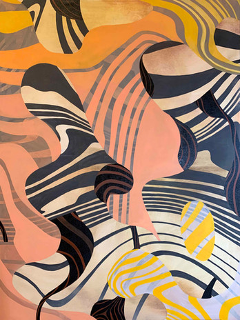 Wendy Letven, Ebb and Flow, 2020. Oil on canvas, 48 x 36 inches. ©Wendy Letven, courtesy Fou Gallery