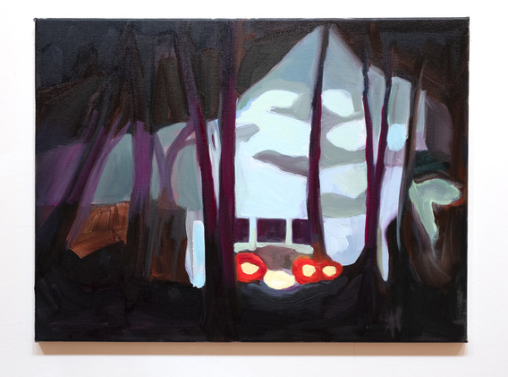 Maureen O'Leary Lights oil on canvas 18 x 24 inches 2020