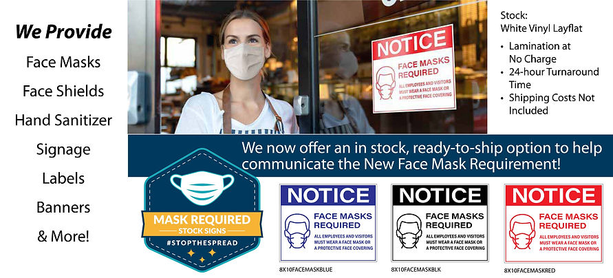 DL-Ad (Face Masks Required Stock Signage