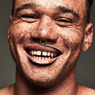 Model: Hamad, @freckledlightskin   Photographer: Karl Collins  Makeup: Alice Marie Rouillon