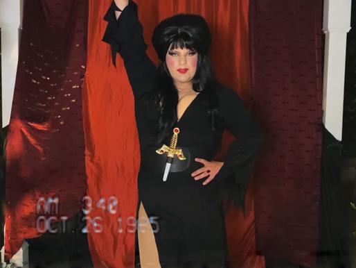 Miss Clair Voyance as Elvira - Halloween at Home