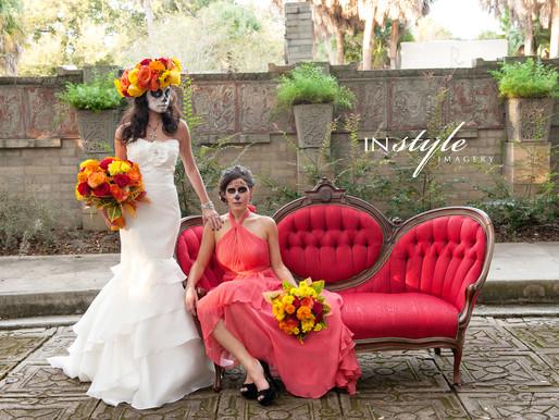 Haunted Weddings: Dia De Los Muertos Shoot