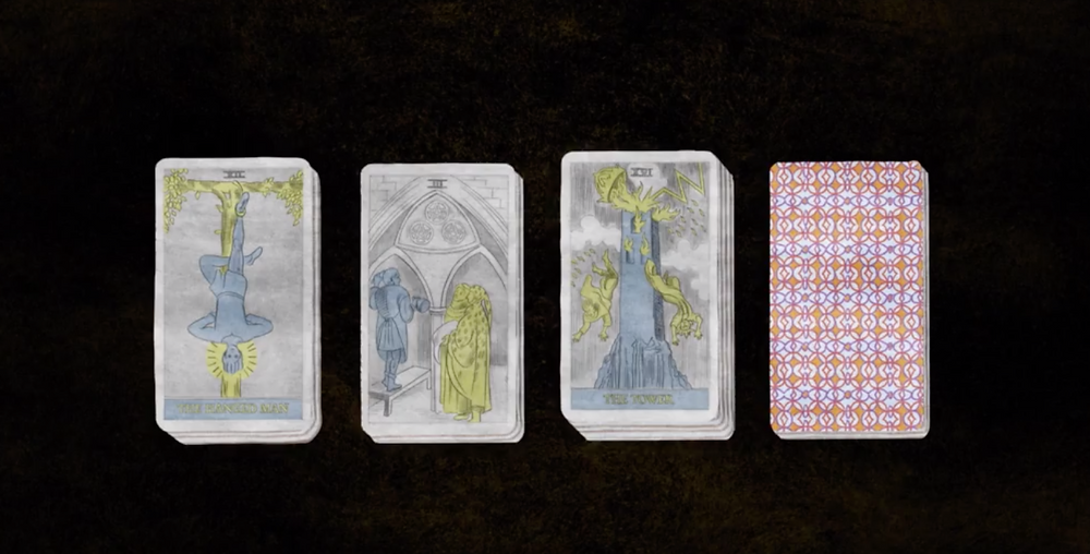 Tarot cards in Cryptozoo c/o Magnolia Pictures