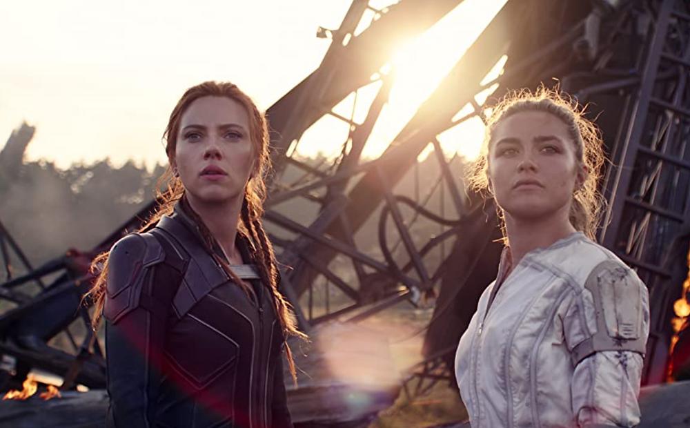 Scarlett Johansson and Florence Pugh in Black Widow c/o Marvel