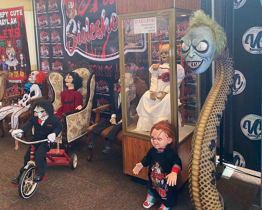 Spooky dolls at Midsummer Scream