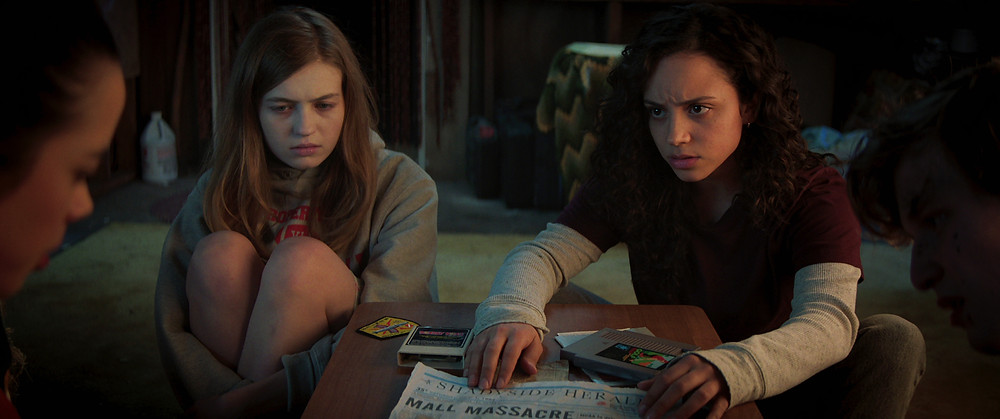 Julia Rehwald, Olivia Scott Welch, and Kiana Madeira in Fear Street c/o Netflix/Chernin Entertainment