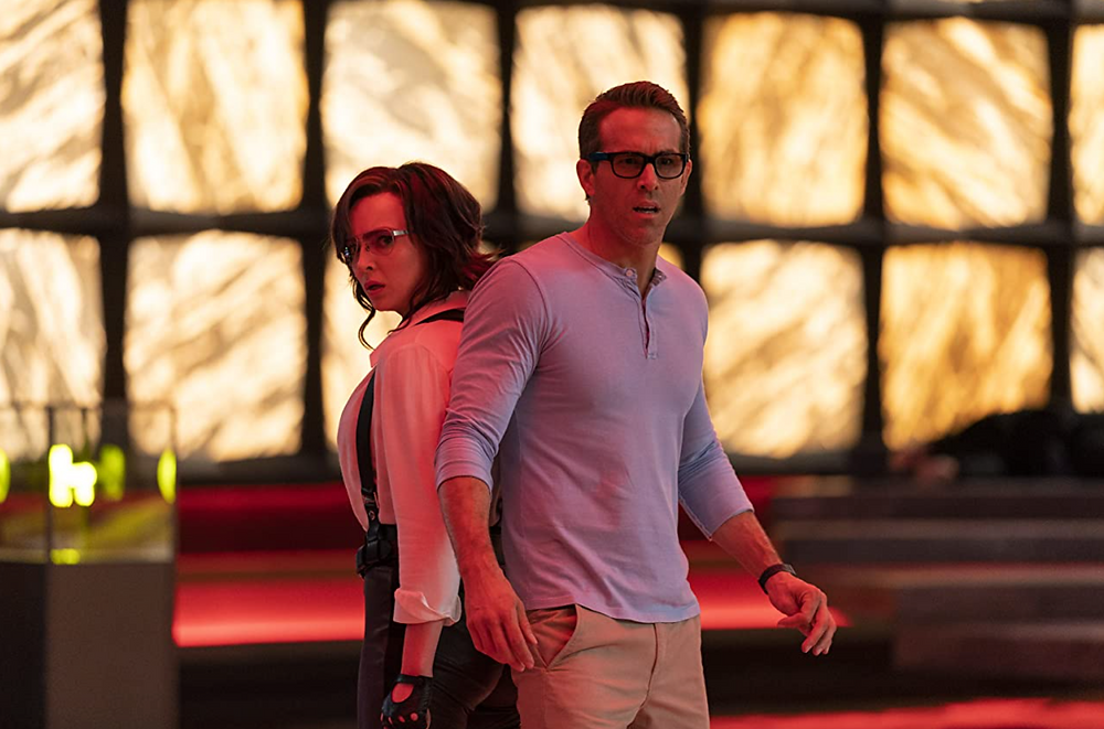 Jodie Comer and Ryan Reynolds in Free Guy c/o 20th Century Studios