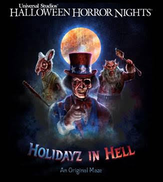 "All-Original Halloween Horror Nights Maze, ""Holidayz in Hell"""