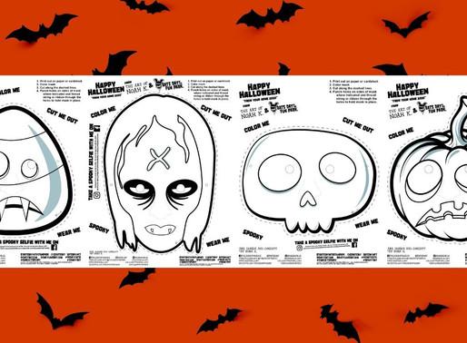 Bats Day Color & Cut Masks - Halloween at Home