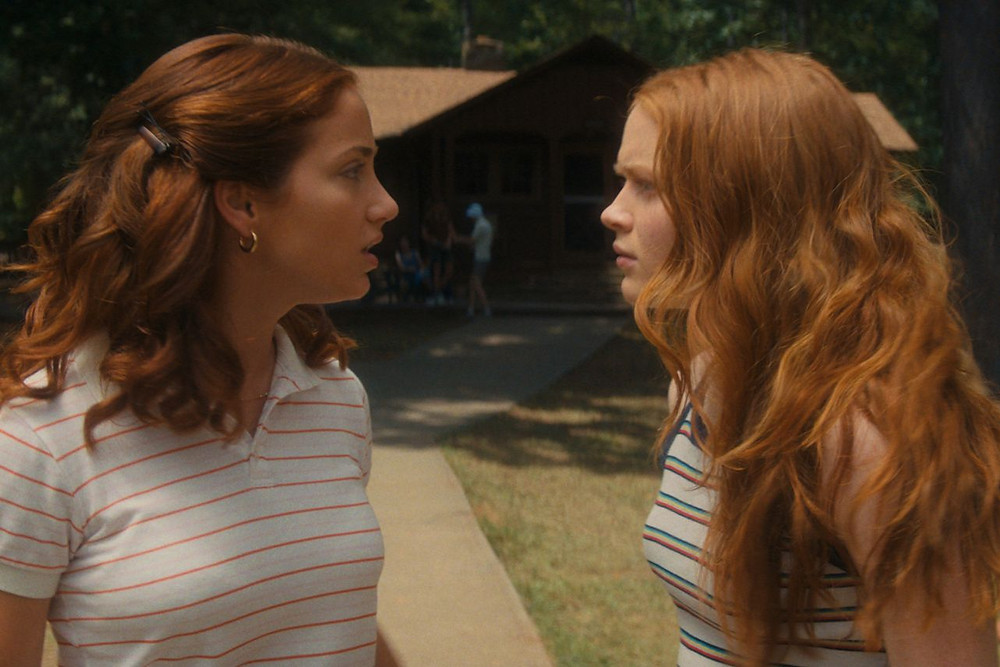 Emily Rudd and Sadie Sink in Fear Street Part Two: 1978, c/o Netflix