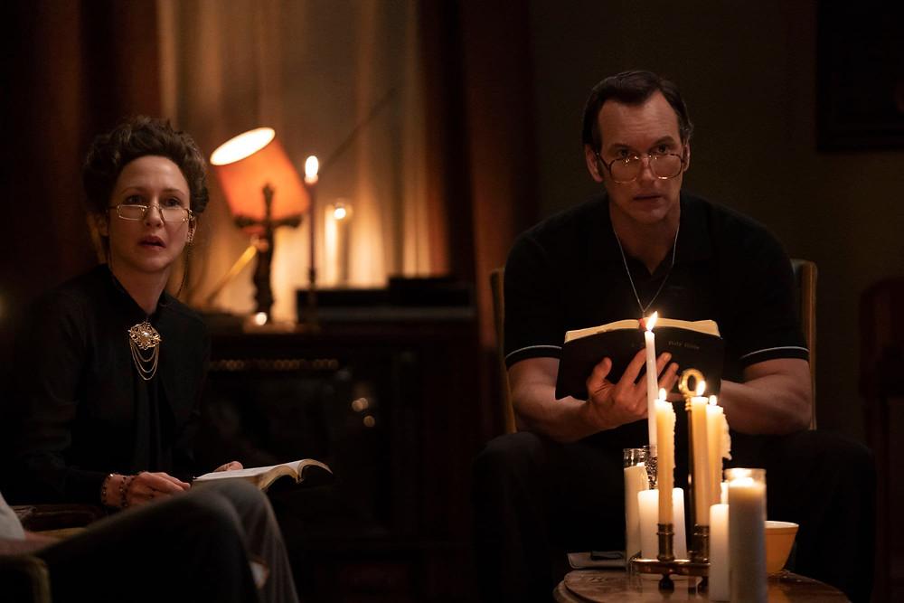 Vera Farmiga and Patrick Wilson in The Conjuring: The Devil Made Me Do It c/o New Line Cinema