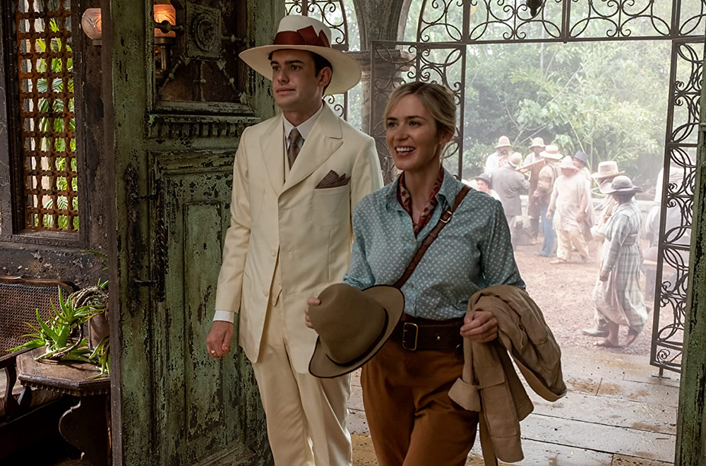 Jack Whitehall, Emily Blunt, and her pants in Jungle Cruise c/o Disney