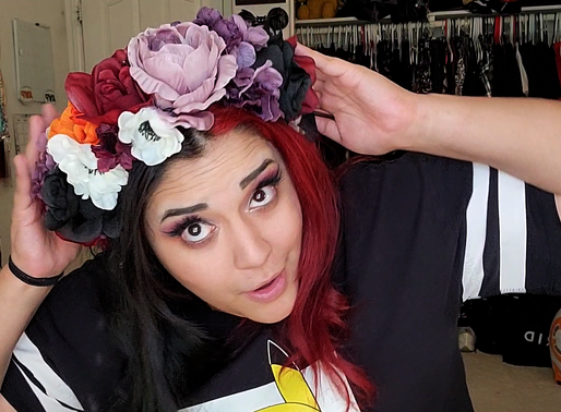 How to Make a Festive Fall DIY Flower Crown - Halloween at Home