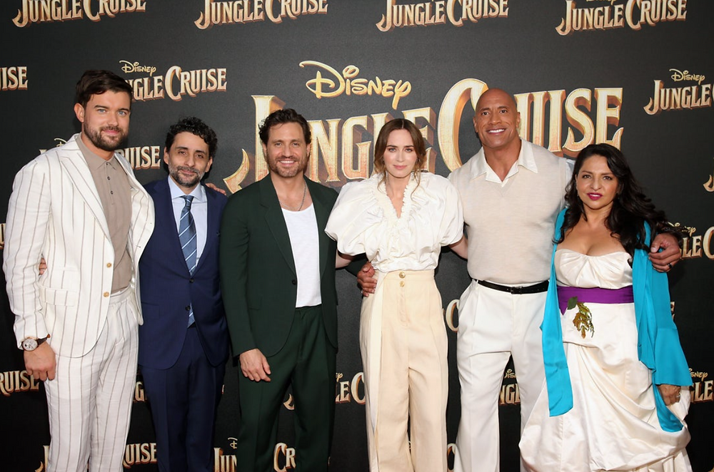 The cast at the World Premiere of 'Jungle Cruise' at Disneyland