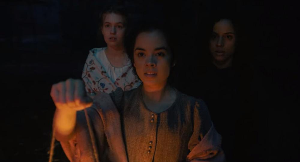 Olivia Scott Welch, Julia Rehwald, and Kiana Madeira in Fear Street Part Three: 1666 c/o Netflix
